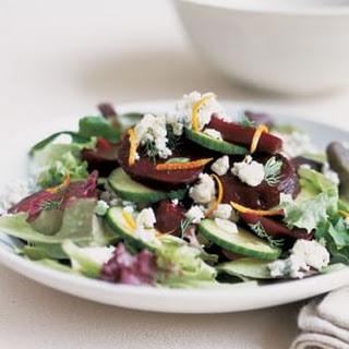 Beet and Stilton Salad with Orange Vinaigrette