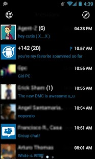 GOSMS WP7 Blue Theme Free - screenshot thumbnail