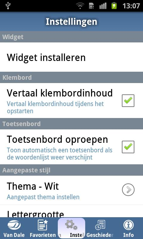 Van Dale English<>Dutch Pocket - screenshot