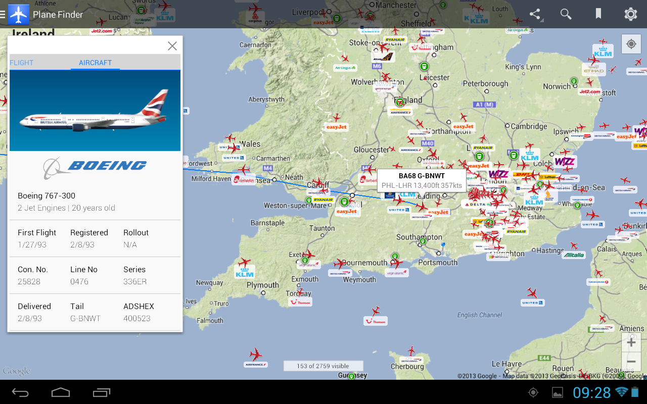Plane Finder - screenshot