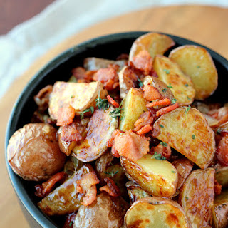 Warm Maple Bacon Potato Salad