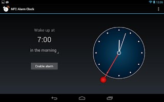 Screenshot of NFC Alarm Clock