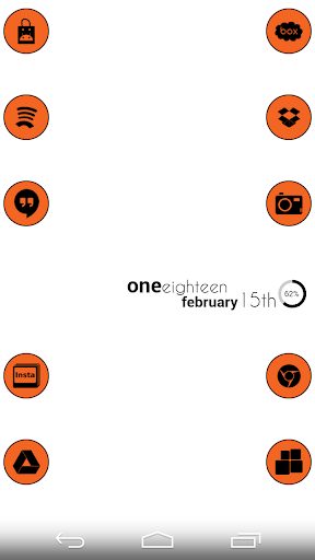 VM5 Orange Icon Set