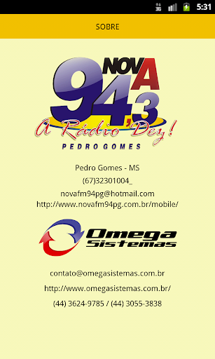 【免費音樂App】Nova FM 94,3 Pedro Gomes-APP點子