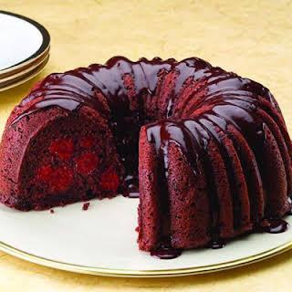 Chocolate Cherry Cake with Rum Ganache.