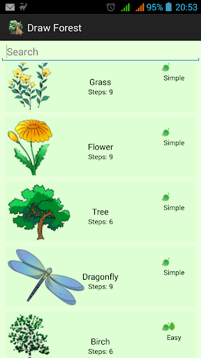 How Draw Forest