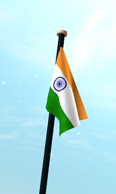 India Flag 3D Free Wallpaper - screenshot