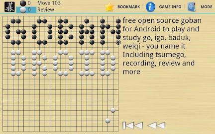 Gobandroid HD A.I. GnuGo Screenshot 2