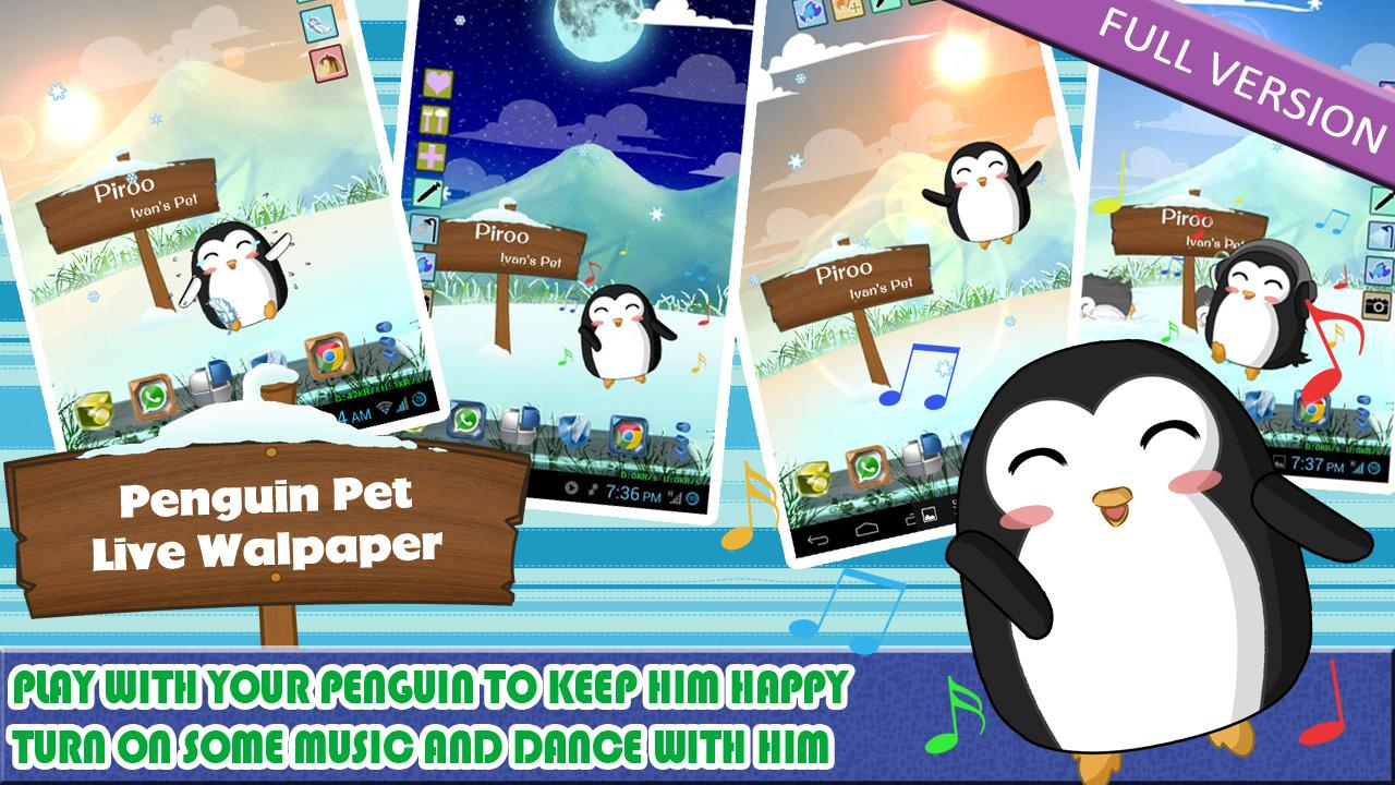 Penguin Pet LWP Free - screenshot