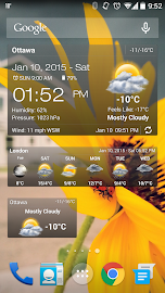 Weather & Clock Widget Android Screenshot 1