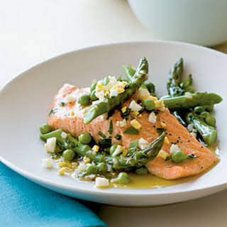 Salmon with Spring Vegetables.