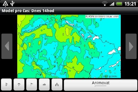 Aladin - předpověď počasí – miniatura snímku obrazovky