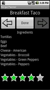 Recipe Planner- screenshot thumbnail