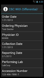 LabCorp Beacon®: Mobile- screenshot thumbnail