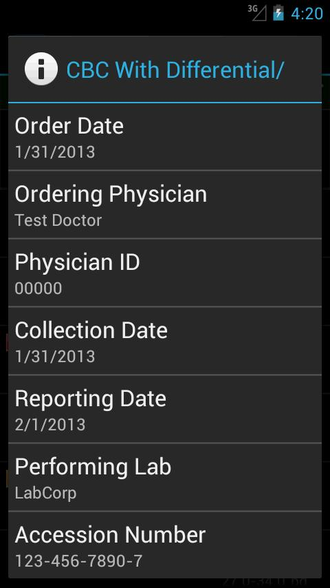 LabCorp Beacon®: Mobile - screenshot
