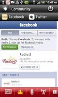Screenshot of Radio S