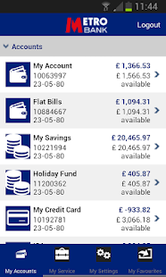 Metro Bank Personal Banking - screenshot thumbnail