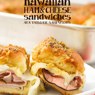 Hawaiian Ham and Cheese Sandwiches (aka Tailgate Sandwiches).