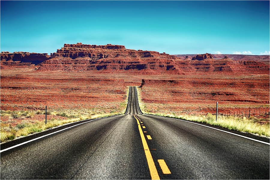 Open Road by Dennis Bartsch - Landscapes Mountains & Hills
