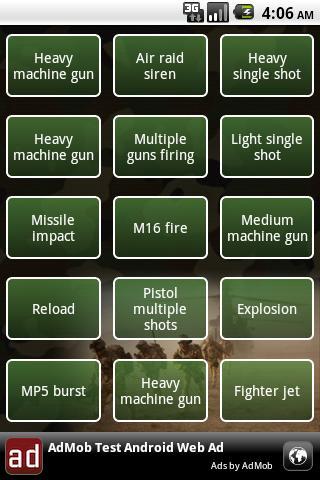Army soundboard - screenshot