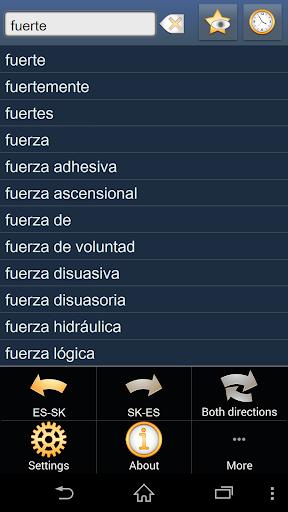 Spanish Slovak dictionary +