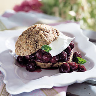 Cherry-Chocolate Shortcakes with Kirsch Whipped Cream.