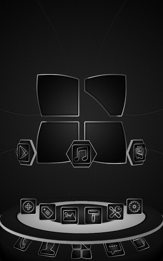 Next launcher theme Soft Black - screenshot