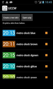 Metro clock uccw skin- screenshot thumbnail