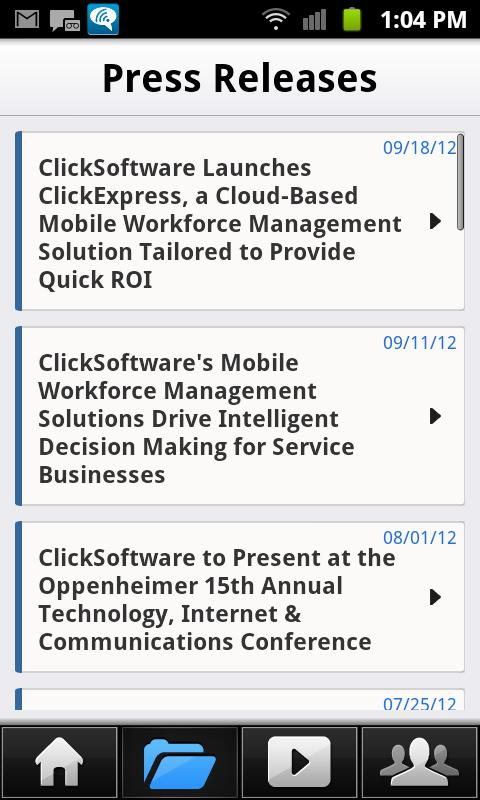 ClickSoftware IR - screenshot