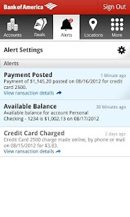 Bank of America - screenshot thumbnail