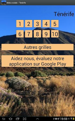 【免費解謎App】Mots Croisés  Ténérife-APP點子