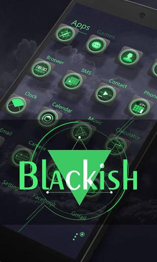 Blackish GO Launcher Theme