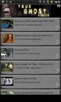 Screenshot of True Ghost Videos