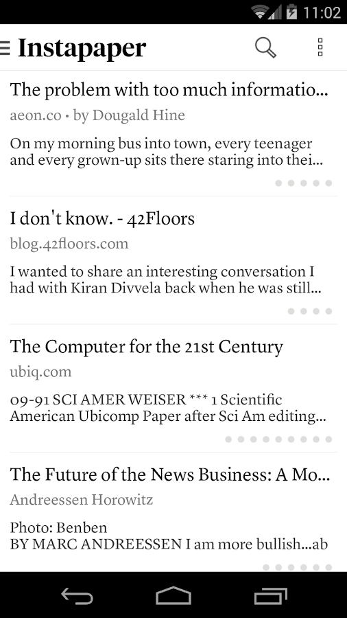 Instapaper- screenshot