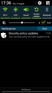 Samsung Security Policy Update- screenshot thumbnail