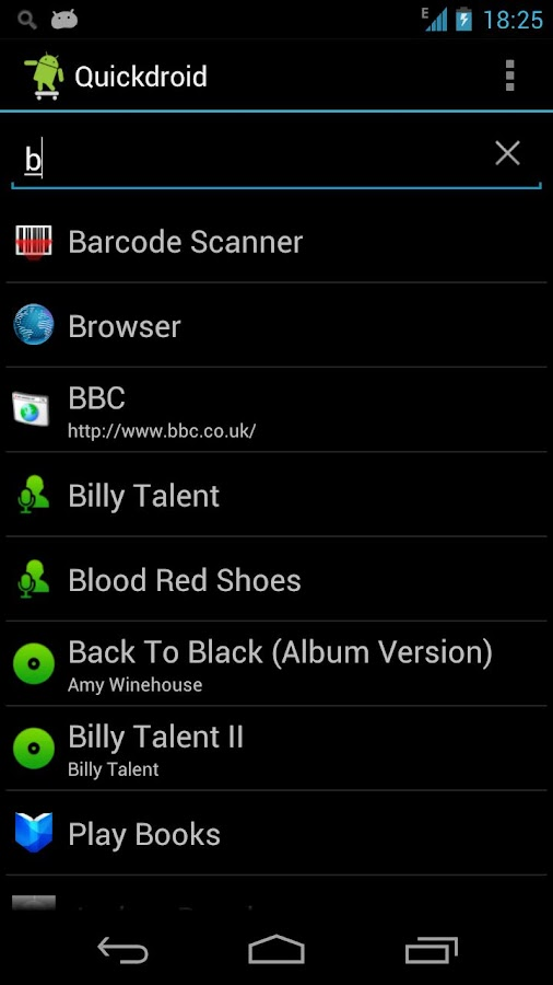 Quickdroid Search - screenshot