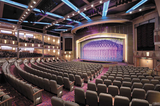 Explorer-of-the-Seas-Palace-Theater - The five-story Palace Theater, Explorer of the Seas' main show lounge, features contemporary musical stage productions.