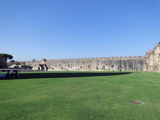 walls-pisa-italy - The medieval walls of Pisa, Italy.