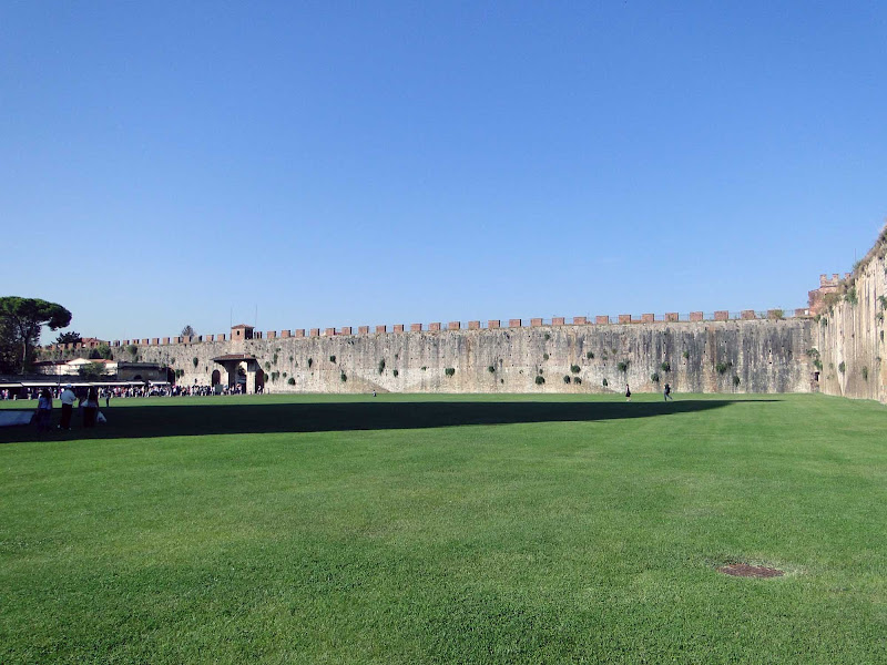 The medieval walls of Pisa, Italy.