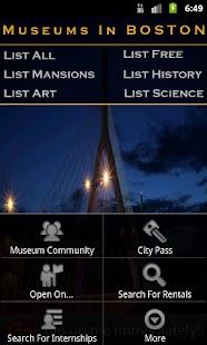 Museums In Boston - screenshot thumbnail