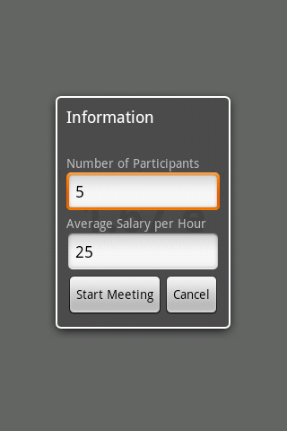 Meeting Cost Meter - screenshot