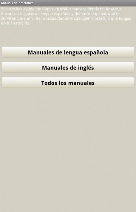 Análisis de oraciones - screenshot