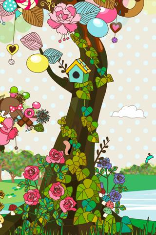 sweet tree LWallpaper[FL ver.]- screenshot
