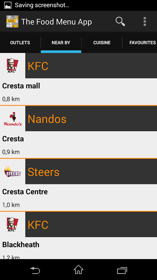 The Food Menu App beta - screenshot