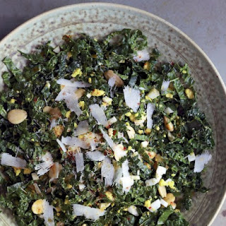 Smoky Kale Salad With Toasted Almonds And Egg.