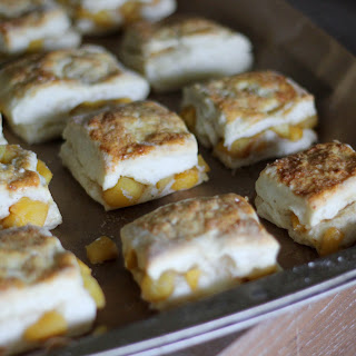 Honey Roasted Peach Biscuits