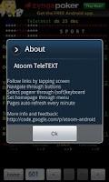 Screenshot of Atoom TeleTEXT Donate