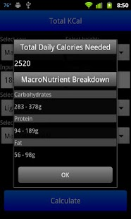 Total KCal - screenshot thumbnail
