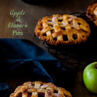 Individual Apple & Rhubarb Pies