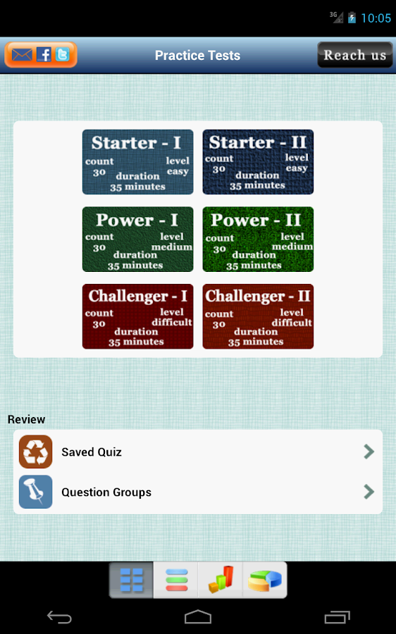 6 SAT Practice Tests (Math) - screenshot